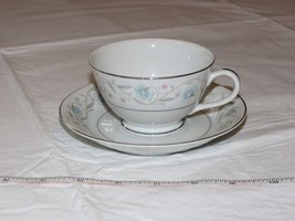 English Garden Fine China 1221 Japan Tea Cup & Saucer Coffee white blue ... - $34.64