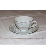 English Garden Fine China 1221 Japan Tea Cup & Saucer Coffee white blue ... - $34.64