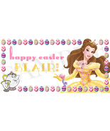 Belle Easter Basket Sticker, Personalized Beauty and the Beast Easter St... - $3.25+