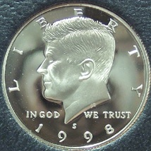 1998-S ULTRA CAMEO Proof Kennedy Half #0595 - $7.99