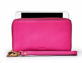 New Fossil Women Emma Zip Around Rfid Smartphone Wallet Variety Colors - $63.88+