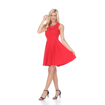 Shay Fit and Flare Dress - Red - $34.99