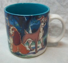 VINTAGE Walt Disney THE LADY AND THE TRAMP CERAMIC DRINKING MUG CUP - ₹1,068.84 INR