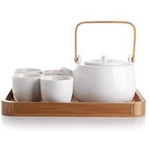 casaWare Serenity 7-Piece Tea Pot Set White