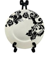 "Home Target White & Black DAMASK Stoneware Dinner Plate 10 1/2"" - $18.80"