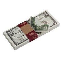 PROP MOVIE MONEY - Series 1920s Vintage $10 Full Print Prop Money Stack - $14.00