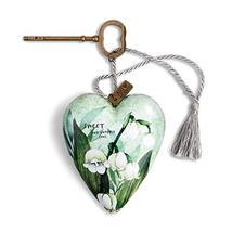 DEMDACO Sweet Humble Soul Green 4 x 3 Resin Stone Art Heart Locket Figurine - $22.28