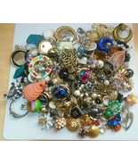 Vintage Mixed SINGLE Earring Lot Over 243 Pieces Some Signed - $128.70