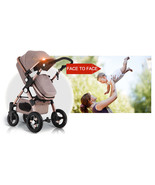 Luxury Baby Stroller 3 in 1 High view travel Pram folding with Car Seat - $429.99