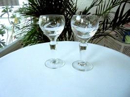 Set of 2 Bohemia Crystal Clear Liquor Glasses - $21.78