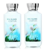 Bath & Body Works Sea Island Cotton Shea & Vitamin  Body Lotion 8 oz x2 - $31.50
