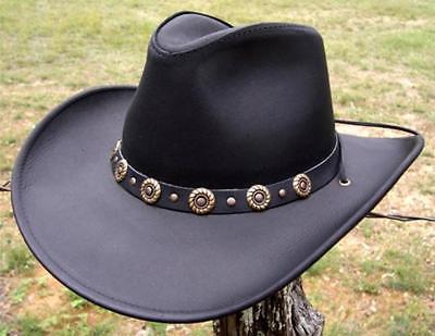 11541ca0370 1. 1. USA MADE Henschel Hats HIKER Black Dakota Cowhide Leather Western ...