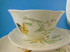 Lenox Butterfly Meadow4 piece set of China Dinner plate salad bread soup... - $39.59