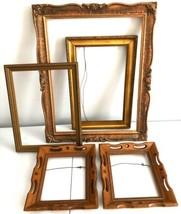 """Vtg Wood Picture Frames Copper Gold Ornate Carved 17.75"""" Wall Hang Lot 5 - €107,66 EUR"""