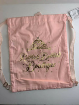 Disney Parks Backpack Bibbidi Bobbidi Boutique Pink Gold Cloth Drawstrin... - $12.64
