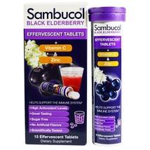 Healthy Immune System Support Sambucol Black Elderberry 15 Effervescent Tablets - $18.98