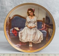 """Knowles Norman Rockwell Collectible Plate """"Waiting At The Dance""""  jds - $9.89"""