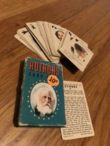 V Tg 50s 1950s Whitman Authors Mini Card Game Complete Deck W Rules - $14.99