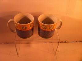 Sakura Malaga --SET Of 2) Coffee Mugs / CUPS--1995--SUE ZIPKIN---FREE SHIP--VGC - $24.26