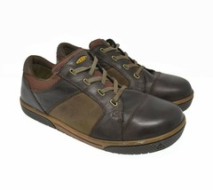KEEN Men's Sz 11.5 EU 45 Brown Leather Lace Up Oxford Fashion Heavy Duty Casual - $49.99