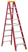 8 ft. Step Ladder Fiberglass Type IA 300 lbs. Load Folding Non Slip Kitc... - $127.86