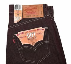Levi's 501 Men's Original Fit Straight Leg Jeans Button Fly 501-1207 image 3