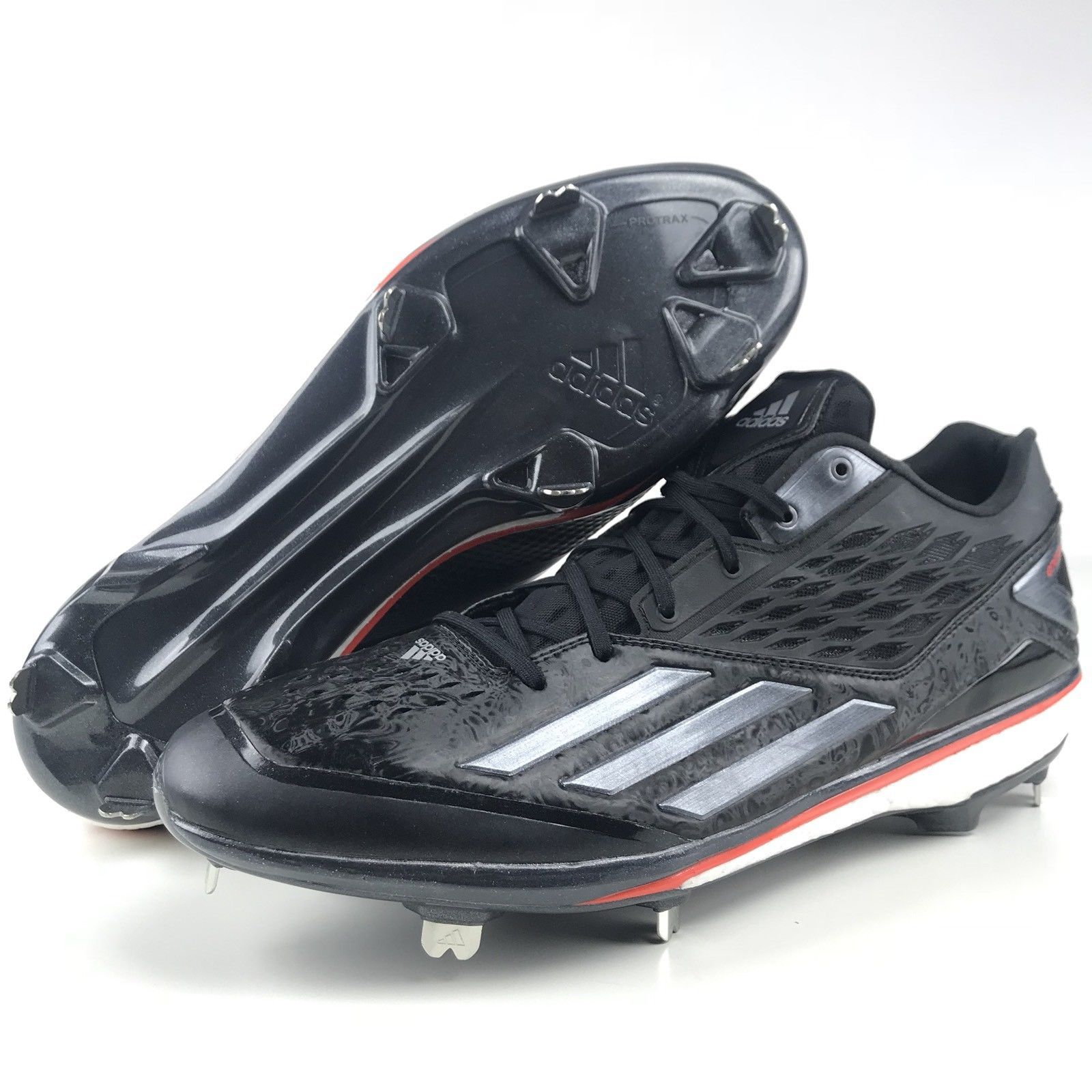 Adidas Baseball Cleats Size 14 Energy Boost Icon Metal Running Shoes Black  New -  39.95 764da56e1186d