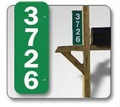 Reflective Green Address Sign Kit Plaque House Number Set 911 Safety Hi Viz - $29.99