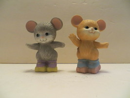 "Vintage Avon Best Buddies Porcelain Figure Collection: ""Mice Skating"" - $14.84"