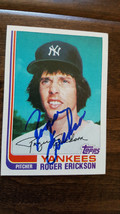 1982 Topps Signed Auto Traded Card Roger Erickson New York Yankees Twins # 30T - $14.84