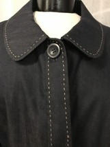 Ann Taylor Loft Women's Blazer Blue Denim Crop One Button Size 6 - $31.47