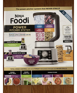 Ninja SS351TGT Foodi Power Pitcher 4in1 Food Processor 1400wp Gray Stain... - $134.98