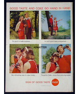 1958 COKE COCA-COLA VINTAGE PRINT AD! 1950'S GOOD TASTE PICNIC THEME - $9.74