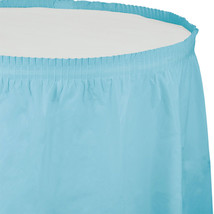 14 ft Plastic Tableskirt Pastel Blue/Case of 6 - $52.24