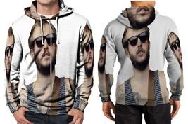 bon iver with black glasses Hoodie Zipper Fullprint Men - $46.80