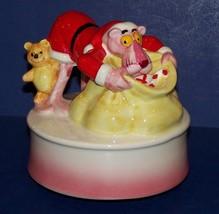 ADORABLE ROYAL ORLEANS PINK PANTHER SANTA CLAUS & TEDDY BEAR CHRISTMAS M... - $51.47