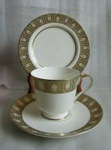 VINTAGE MIKASA NAMURI Meredith  Pattern Trio CUP Saucer PLATE! Green & G... - $24.70
