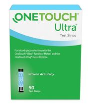 OneTouch Ultra Blue Blood Glucose Test Strips 50 Count - $45.00