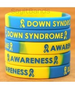 Set of Down Syndrome Awareness Wristbands - Wholesale Lot of Silicone Br... - £3.59 GBP+