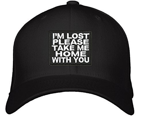 I'm Lost Please Take Me Home With You Hat - Adjustable Mens Black - Funny Quote