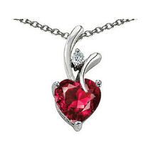 7MM OR 9MM HEART SHAPE RUBY PENDANT SOLID 14K YELLOW OR WHITE GOLD SETTING  - $25.82+