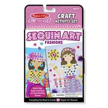 Melissa & Doug Creative Playset for Kids - On-The-Go Crafts Fashion Sequ... - $14.25