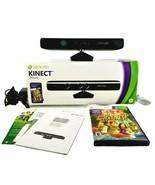 Microsoft Xbox 360 Black Kinect Sensor With Manual Full Adventures Video... - $56.50