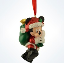 Disney Parks Mickey as Santa With Presents Bag Christmas Ornament New With Tags - $24.14