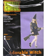 Child's Adorable Witch Halloween Costume NEW Medium 5-7, NEW UNUSED - $8.79