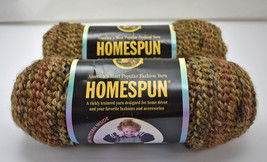Homespun Lion Brand Acrylic/Poly Yarn - 2 Skeins Variegated Color Barley #381 - $18.00