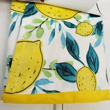 "New Printed Cotton Kitchen Apron, approx. 28"" x 33"", LEMONS & LEAVES, SW - $17.81"
