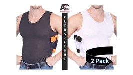 AC UNDERCOVER Tank Top Elite Concealed Carry Clothing (Black/White 2-Pac... - $59.99