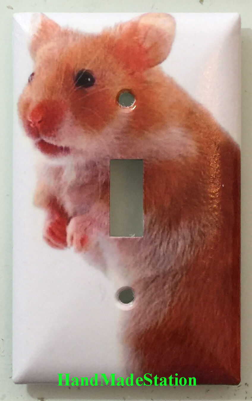 Hamster Light Switch Power Duplex Outlet Wall Cover Plate and more Home decor