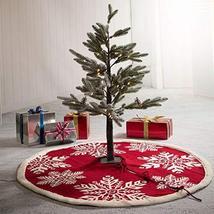Knitted Christmas Tree Skirt Snowflake Base Floor Xmas Gift Home Decor T... - $77.22